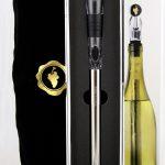 wine-chiller-in-geschenkdood-verpakt in-fluwelen-zakje-verkrijgbaar-bij-le-grand-cru-heemstede